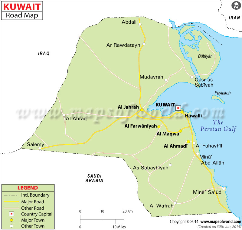 kuwait-road-map
